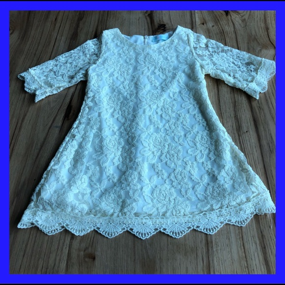 Just Couture Other - Just Couture. Cream long sleeved lace dress. 3T